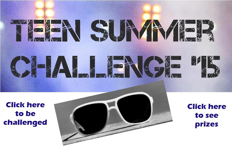 Teen Summer Challenge with sunglasses