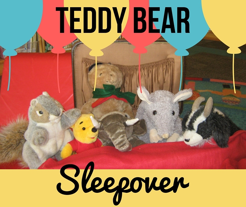Teddy Bear Sleepover image text 08-2016