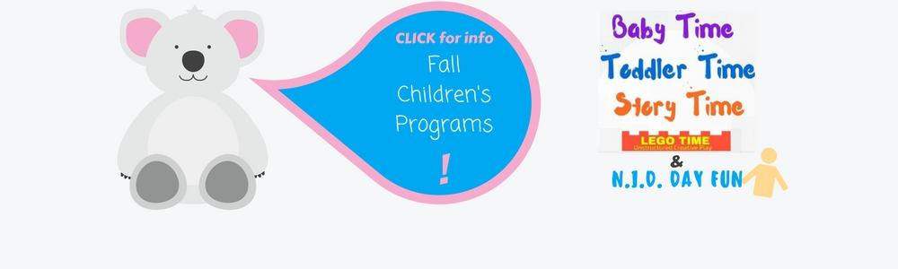 Click for fall programs