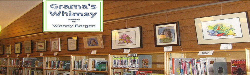 Come by the library to view paintings by Wendy Bergen.