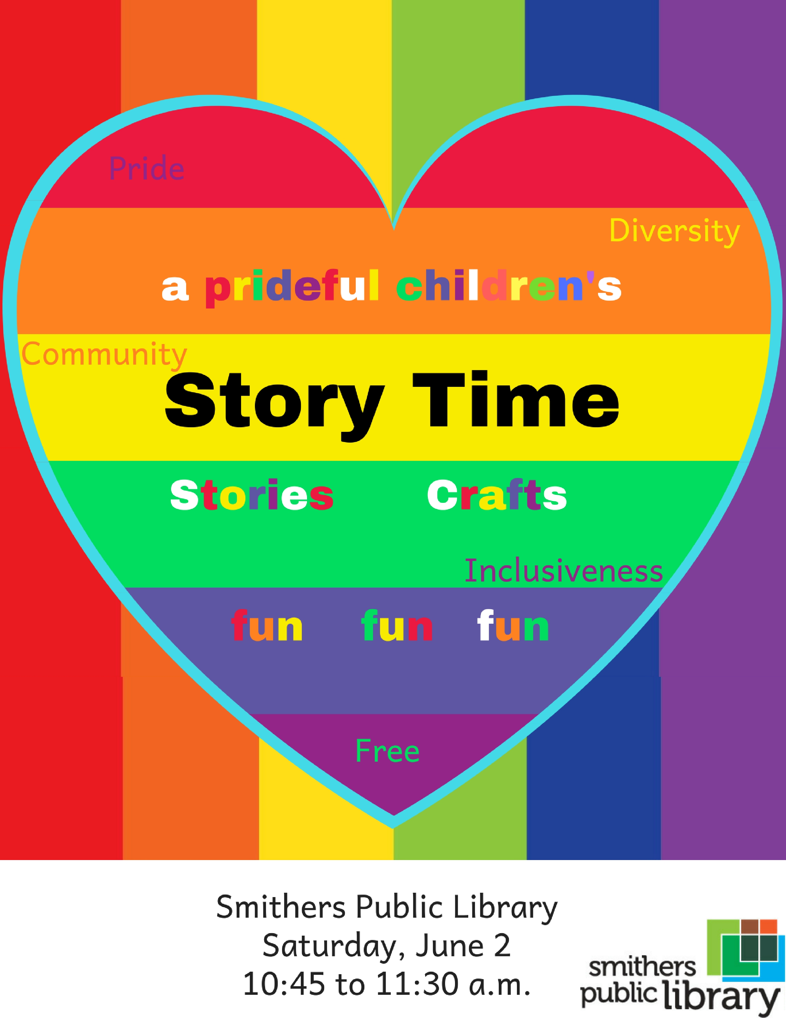 Pride Story Time @ Smithers Public Library