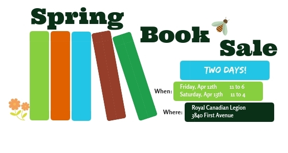 Spring Book Sale @ Royal Canadian Legion