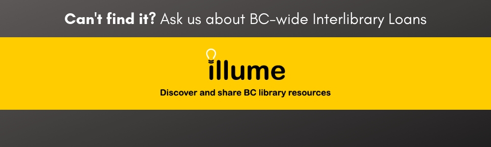 Illume is your portal to province-wide interlibrary loans
